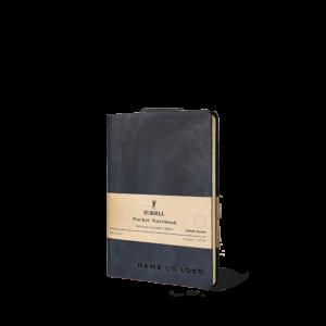 Zuriell-agenda-din-piele-naturala-personalizata-premium-eleganta-lux-refolosibila-a6-neagra-punctat