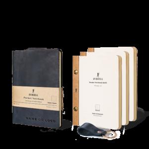 agenda din piele naturala personalizata culoarea neagra cu foi care se schimba si se arhiveaza. Dimensiune A6 - Zuriell-set-guru-agenda-din-piele-naturala-personalizata-premium-eleganta-lux-refolosibila-cu-rezerve-si-breloc-a6-neagra-punctat